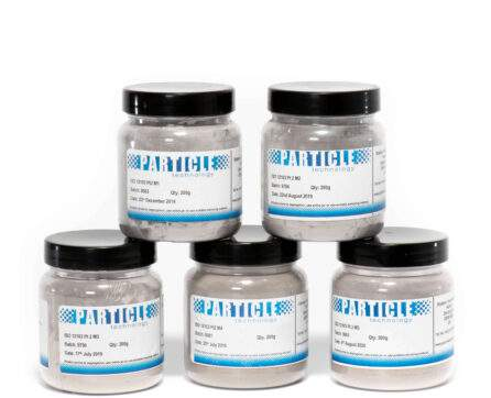 ISO 12103-2 M1, M2, M3, M4 & M5 shown in jars ready for distribution