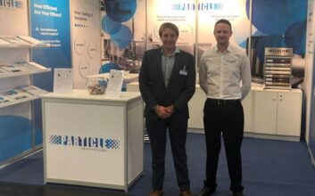 Greg Spicer and Mike Stillwell at the Filtech exhibition